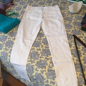 White skinny jeans.Not high waisted.Lauren Conrad